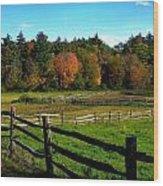 Fall Field - Greeting Card Wood Print