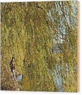 Fall Fisherman Wood Print