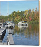 Fall Fishing Break Wood Print