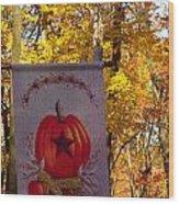 Fall Flag 1 Wood Print