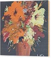 Fall Flower Arrangement 1 Wood Print