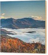 Fall Fog 2 Wood Print