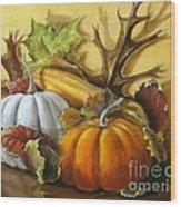 Fall Gatherings Wood Print