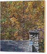 Fall House In Carolina Wood Print