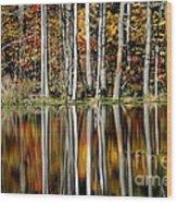 Fall In New York Wood Print
