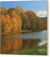 Fall In New York State Wood Print