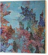 Fall Oaks Wood Print