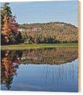 Fall On Lake Lila Wood Print