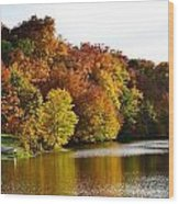 Fall On The Pond Wood Print