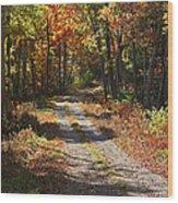 Fall On The Wyrick Trail Wood Print