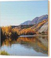 Fall Pond Wood Print
