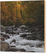 Fall River Wood Print