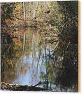 Fall River Undertones Wood Print