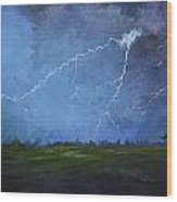 Fall Storm Wood Print