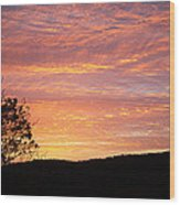 Fall Sunrise Wood Print by Metro DC Photography