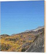 Fall Talkeetna Mountains Wood Print