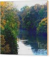 Fall Time Creek Wood Print