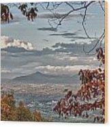 Fall View From Roanoke Mountain Wood Print