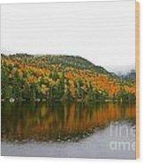 Fall View Of Saco Lake And Elephants Head Wood Print