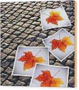 Fallen Autumn  Prints Wood Print