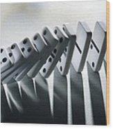 Falling Dominoes Wood Print by Victor De Schwanberg