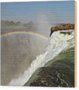 Falling Down  Falls, Zambia Wood Print