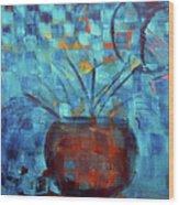 Falling Into Blue Wood Print