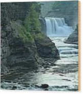 Falling Into The Genesee Wood Print