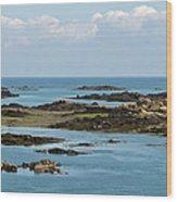 Falling Tide Iles Chausey Wood Print