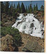 Falls In Site Glen Alpine Falls Wood Print
