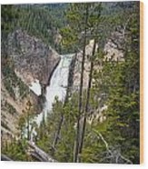 Falls In The Grand Canyon Of Yellowstone Wood Print