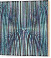 Falls Of Blue Wood Print