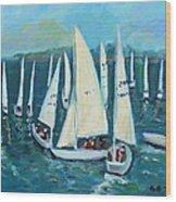 Falmouth Regatta Wood Print