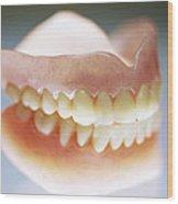 False Teeth Wood Print