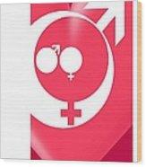 Family Gender And Love Symbols Wood Print
