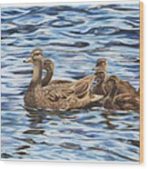 Family Outing Wood Print