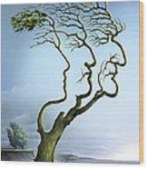 Family Tree, Conceptual Artwork Wood Print by Smetek