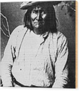 Famous Apache Leader, Geronimo Wood Print by Everett