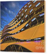 Fancy Cardiff Carpark Facade Wood Print