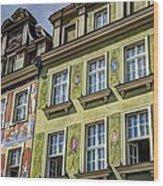 Fancy Facades - Posnan Poland Wood Print