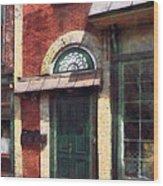Fancy Green Door Burlington Nj Wood Print