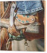 Fancy Horse Tack At A Show Wood Print