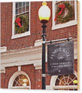 Faneuil Hall Wood Print