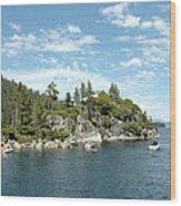 Fannette Island Boat Party Wood Print