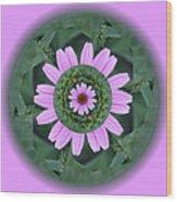 Fantasy Flower Wood Print by Linda Pope