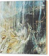 Fantasy Storm Wood Print by Linda Sannuti