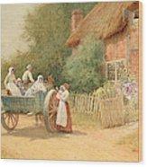 Farewell Wood Print by Arthur Claude Strachan