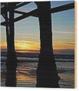 Farewell To The Sun Wood Print