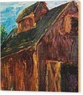 Farm Barn Wood Print