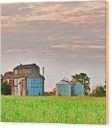 Farm Buildings Wood Print